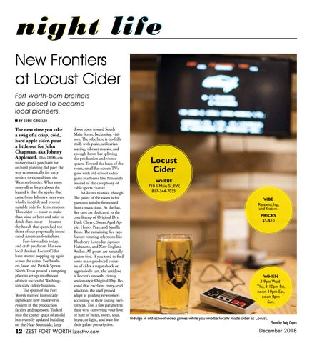 Page 12 of New Frontiers at Locust Cider