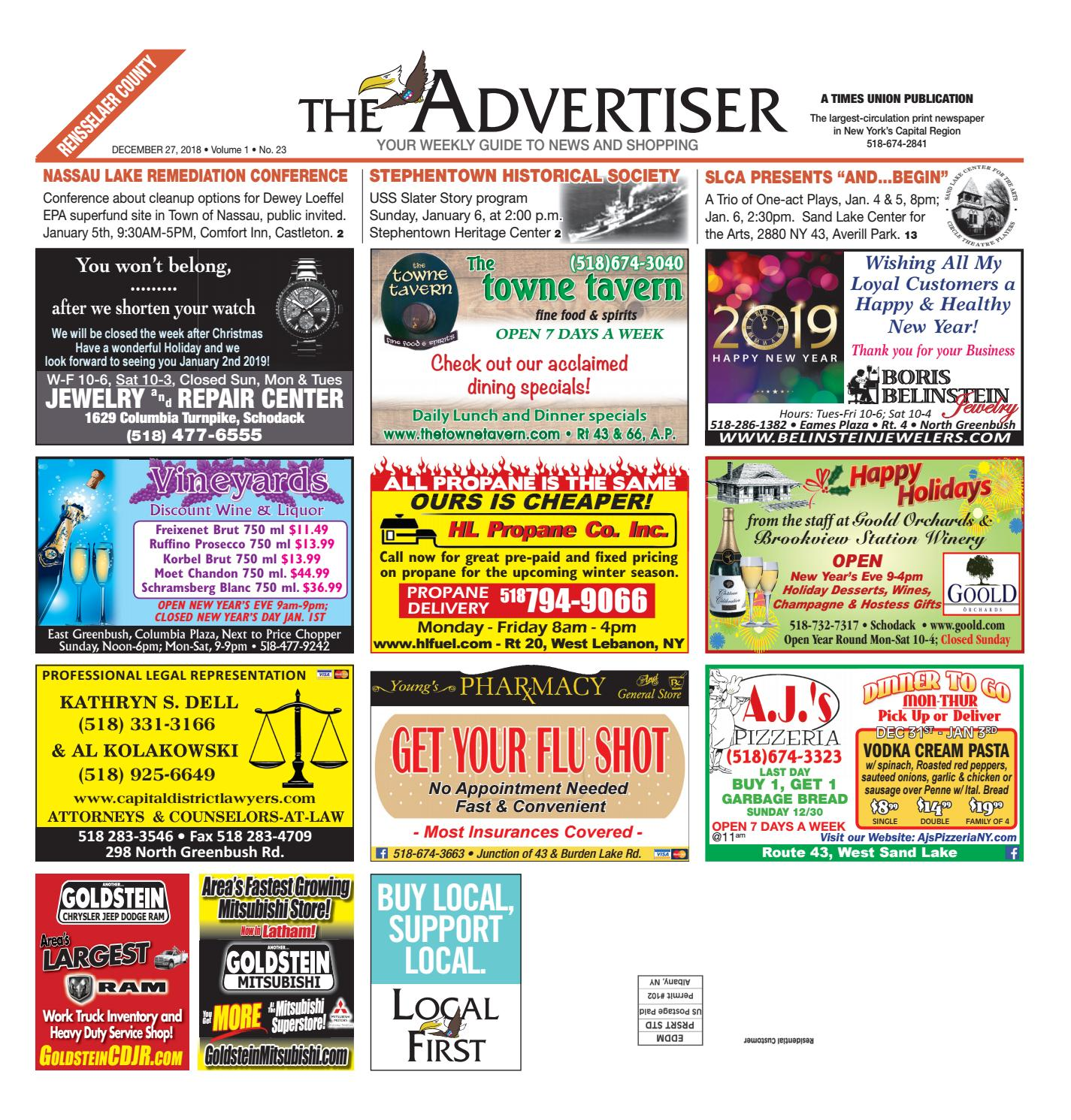 3e0076d05cd Local First The Advertiser 122718 by Capital Region Weekly ...
