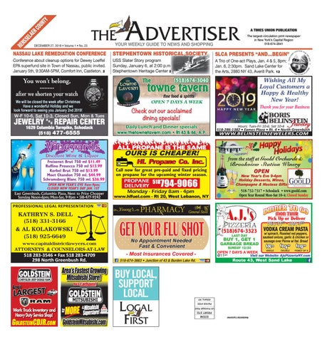 Local First The Advertiser 122718 by Capital Region Weekly ... dccde6d987096
