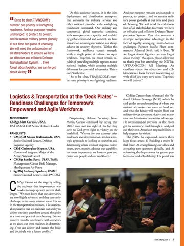 Page 13 of NDTA and USTRANSCOM Conduct  Annual Fall Meeting