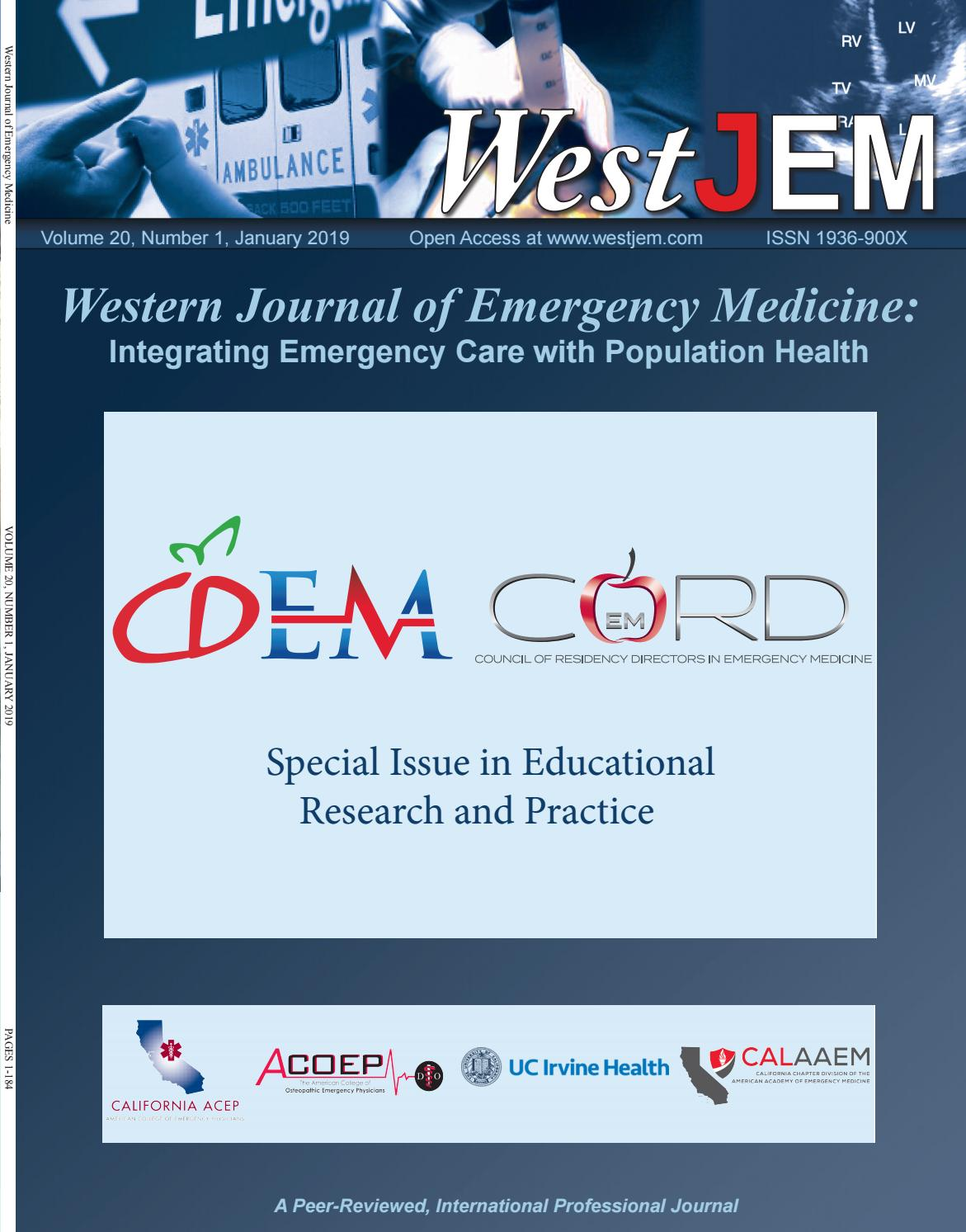 Cdemcord Volume 20 Issue 1 By Western Journal Of Emergency