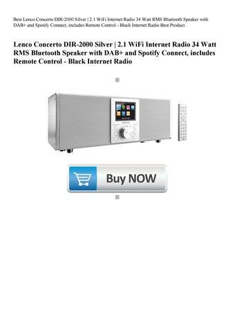 Best Lenco Concerto DIR-2000 Silver 2 1 WiFi Internet Radio