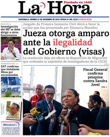 Guatemala, viernes 21 de diciembre de 2018   Época IV   No. 32,911   Precio  Q2.00 111429fde5