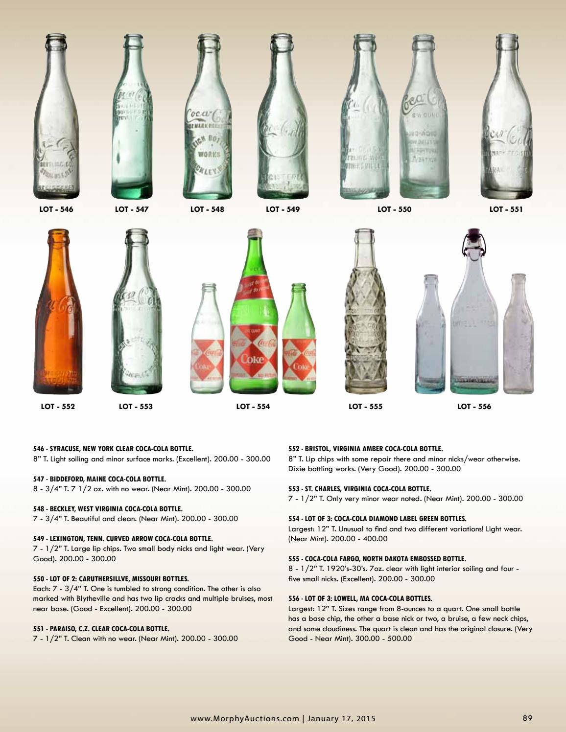 Multiple variations available. Lot of 1 Vintage Coke Bottles