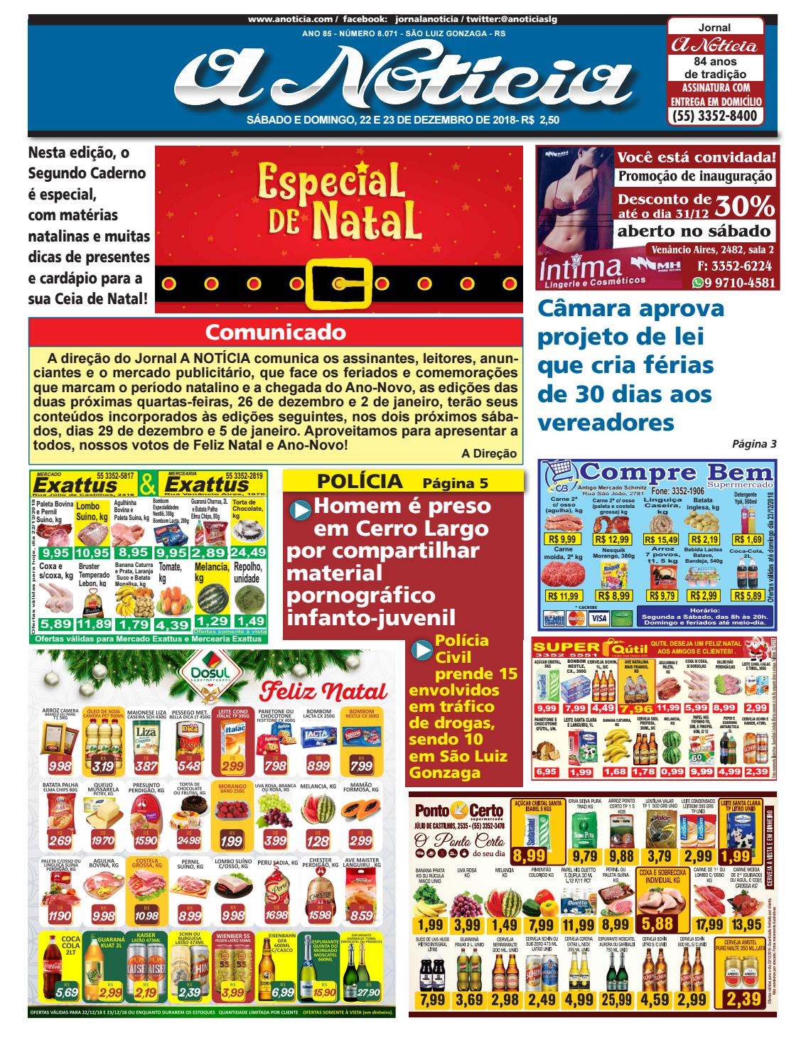 Edição de 22 e 23 de dezembro de 2018 by Jornal A Notícia - issuu 9d8e5eb0f20a4