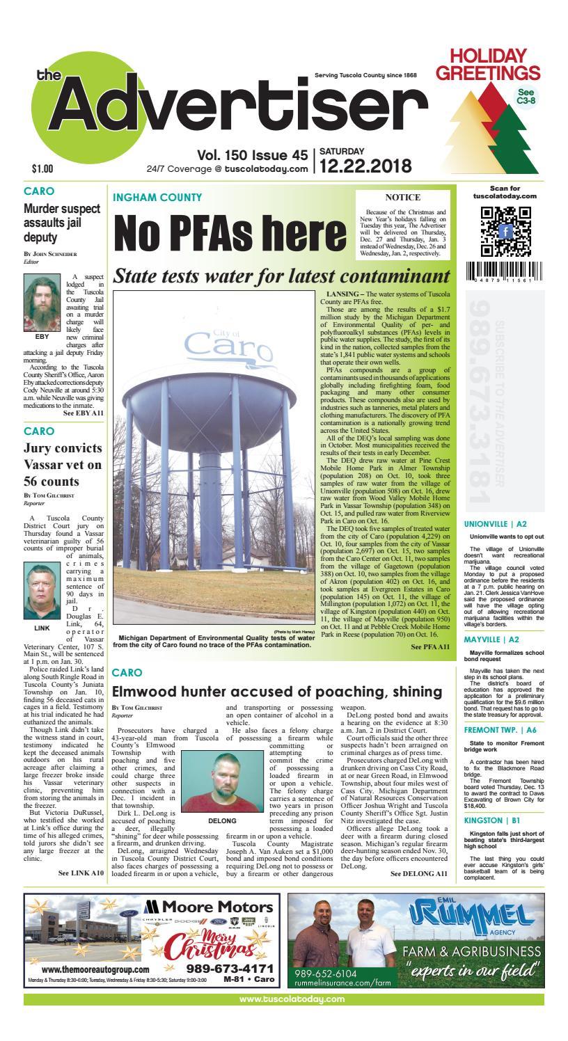 TCA 12-22-18 by Tuscola County Advertiser - issuu