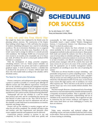 Page 10 of SCHEDULING  FOR SUCCESS