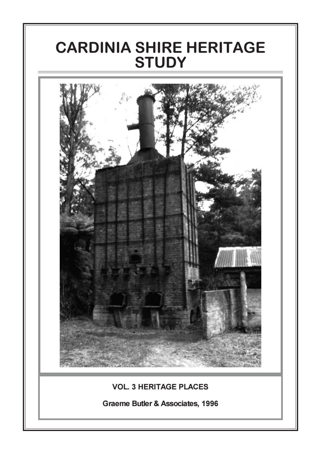 c4048a05ce2 CARDINIA SHIRE HERITAGE STUDY VOL. 3 HERITAGE PLACES by Graeme ...