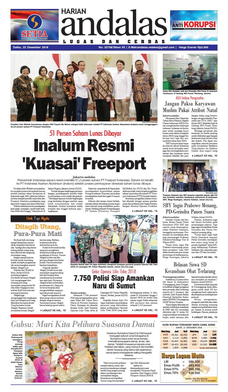 Epaper Harian Andalas 22 Desember 2018 by media andalas - issuu 57a419ea3e