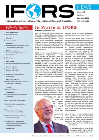 IFORS News December 2018 by IFORS - issuu