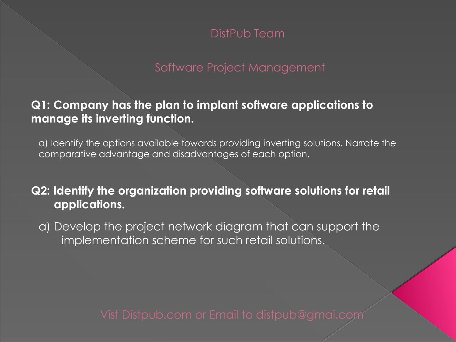 Annamalai Study Material by DistPub – Software Project Management by