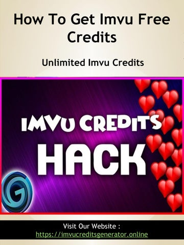 Imvu Hack Cheats 2019 - Add Unlimited Credits! by Imvu