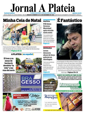 e3650db210 Jornal A Plateia - 22 de Dezembro 2018 by Jornal A Plateia ...