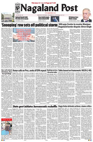 December 22, 2018 by Nagaland Post - issuu