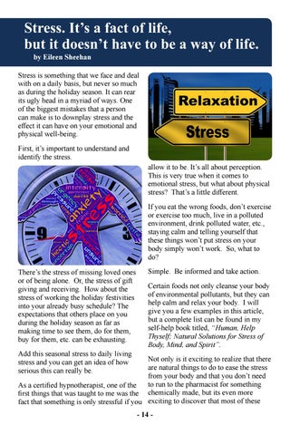 Page 16 of Stress, it's a fact of life, but it doesn't have to be a way of life