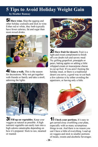 Page 30 of Five Tips to Avoid Holiday Weight Gain