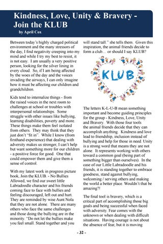 Page 34 of Kindness, Love, Unity and Bravery - Join the KLUB