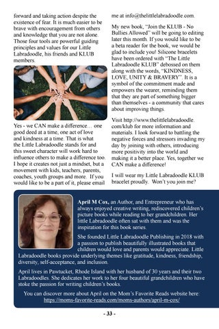 Page 35 of Kindness, Love, Unity and Bravery - Join the KLUB