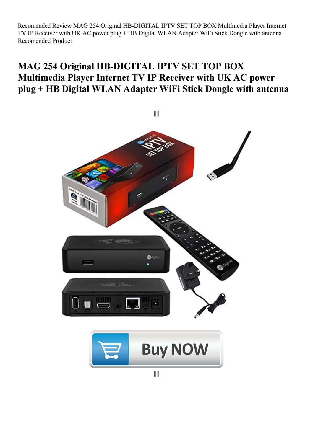 Recomended Review MAG 254 Original HB-DIGITAL IPTV SET TOP