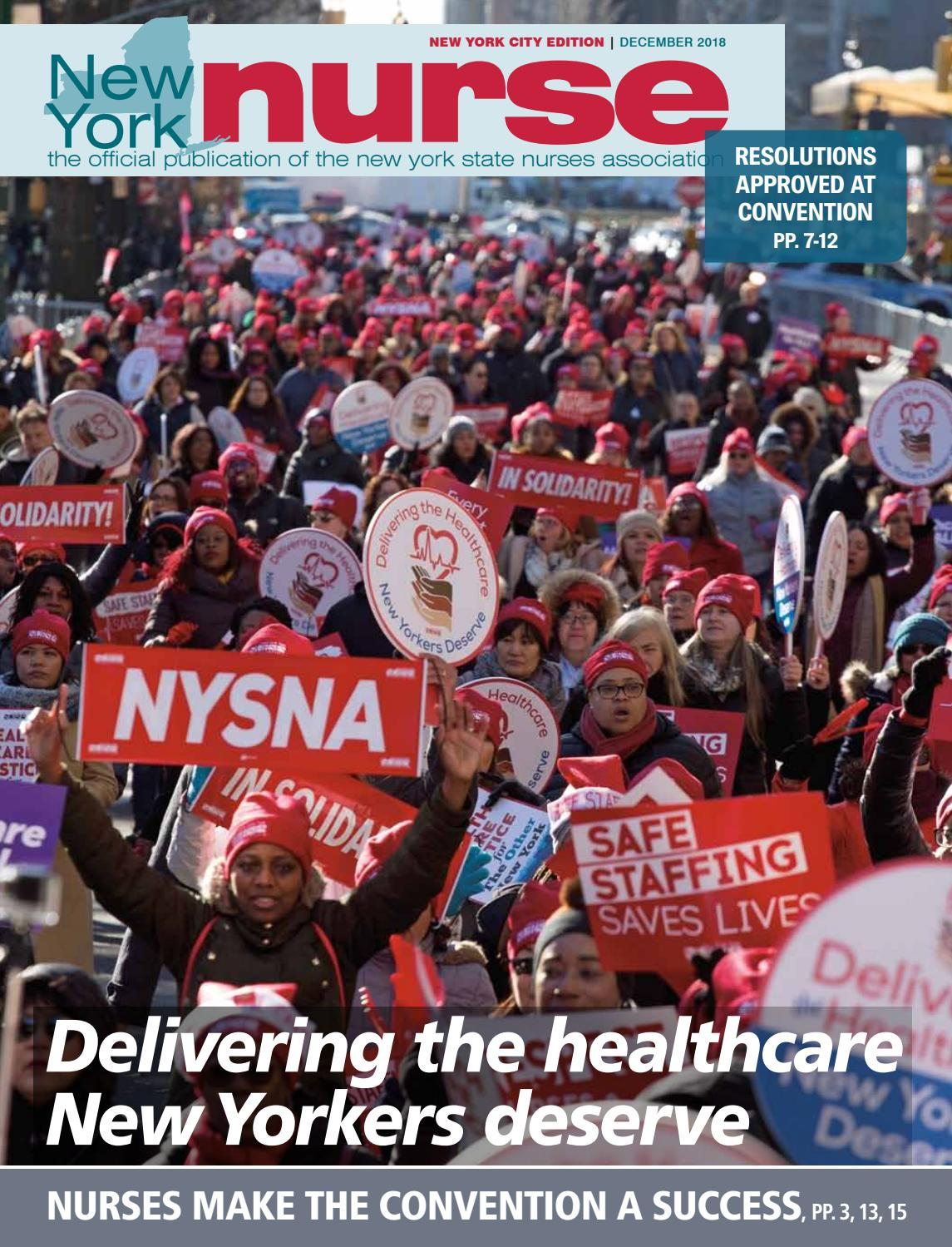 NY Nurse December (NYC) by New York State Nurses Association