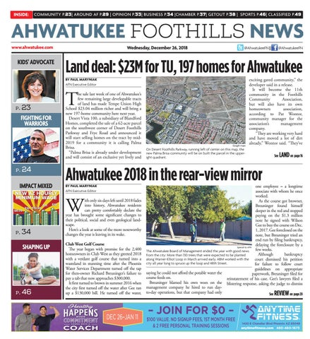 11f293147b Ahwatukee Foothills News - December 26 2018 by Times Media Group - issuu