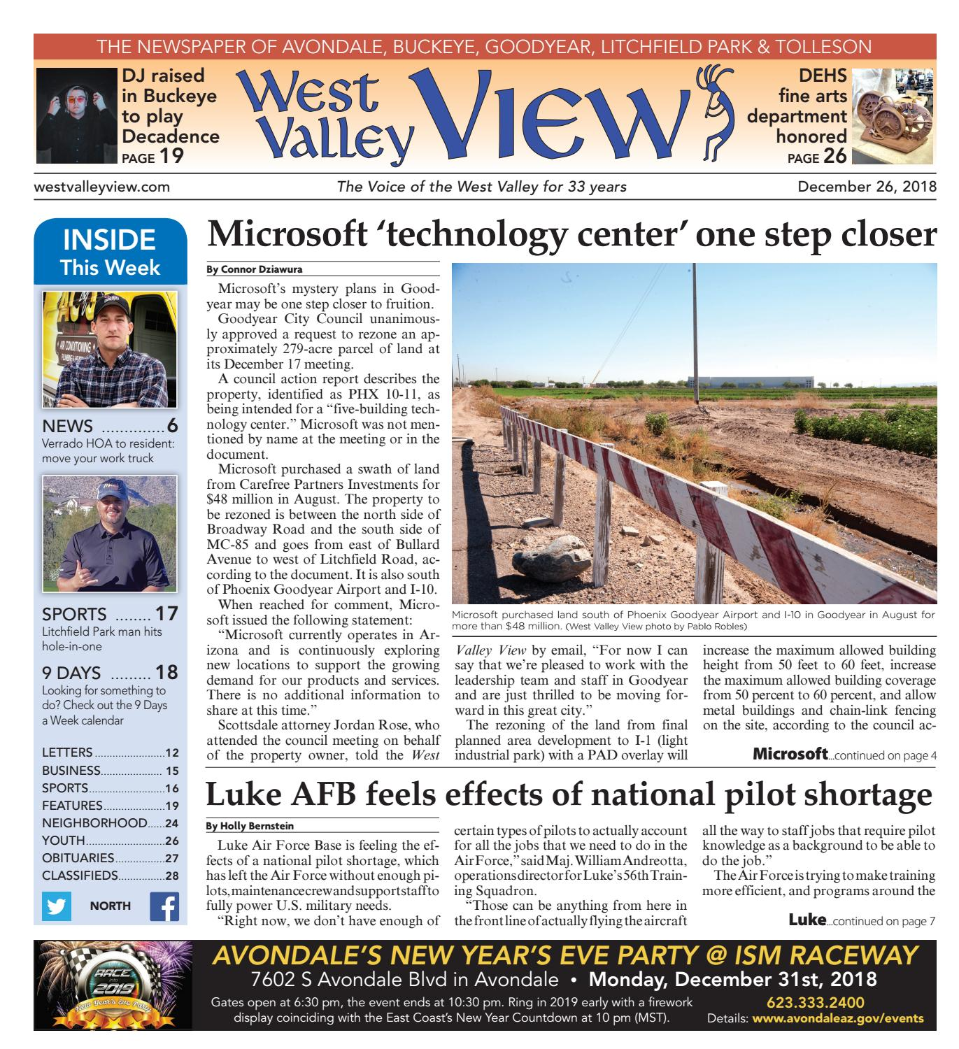 a5c671ec70 West Valley View: North December 26, 2018 by Times Media Group - issuu