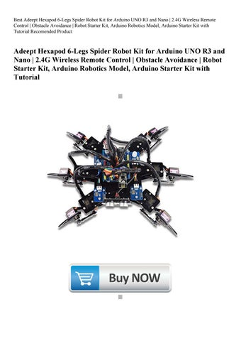 Best Adeept Hexapod 6-Legs Spider Robot Kit for Arduino UNO
