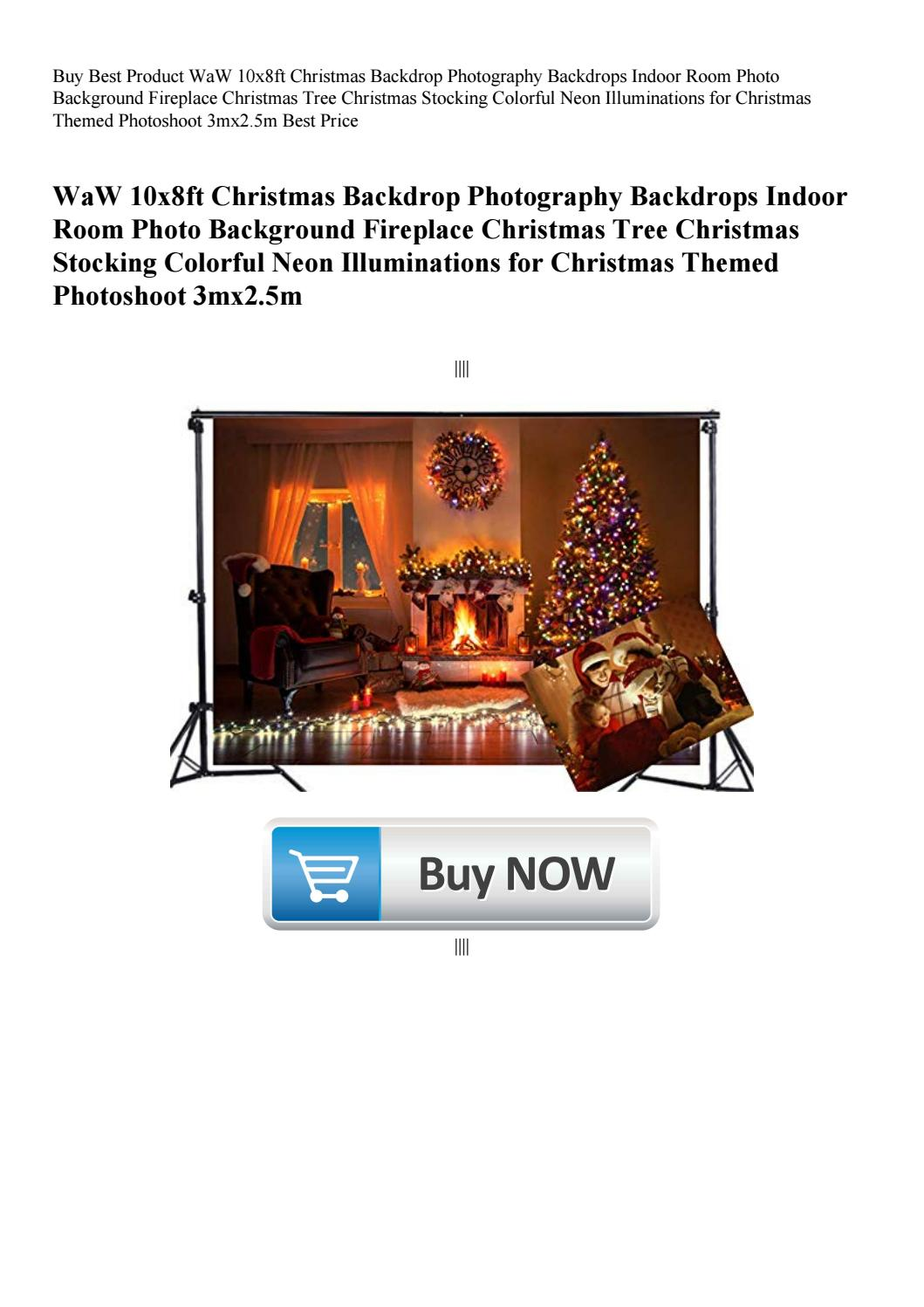 Buy Best Product WaW 10x8ft Christmas Backdrop Photography
