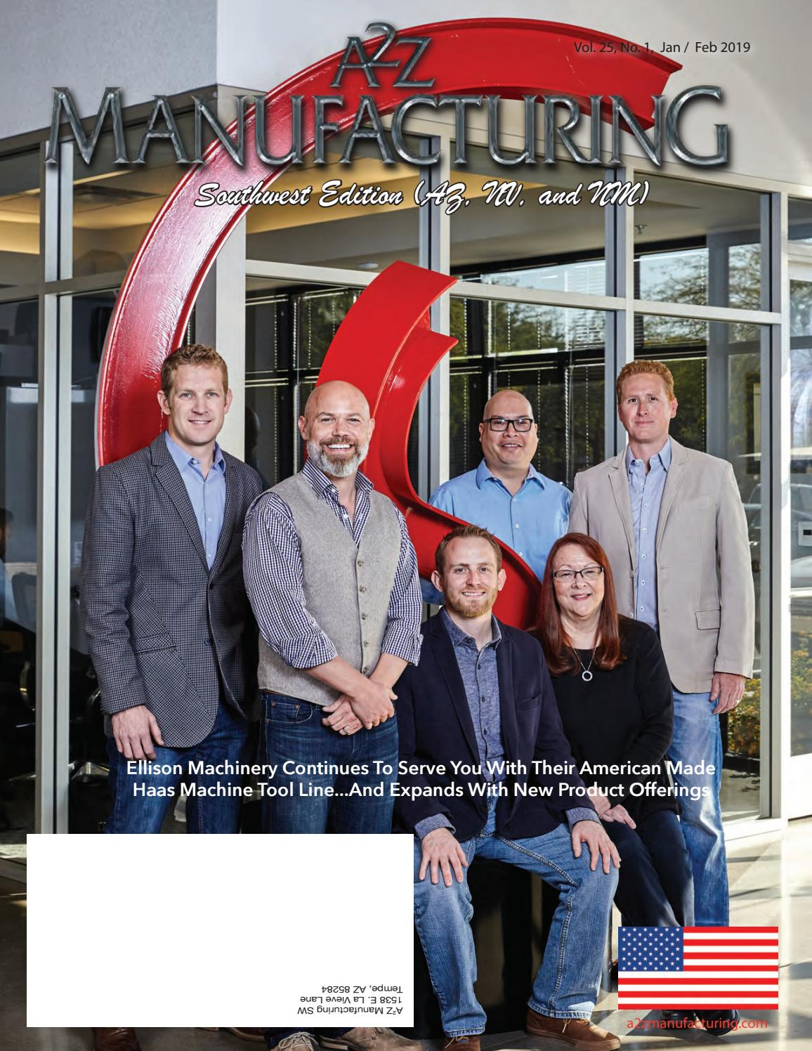A2Z Manufacturing Magazine SW Dec 2018 by A2Z Manufacturing