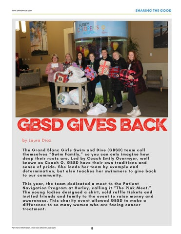 Page 11 of Grand Blanc Schools Swim & Dive Give Back