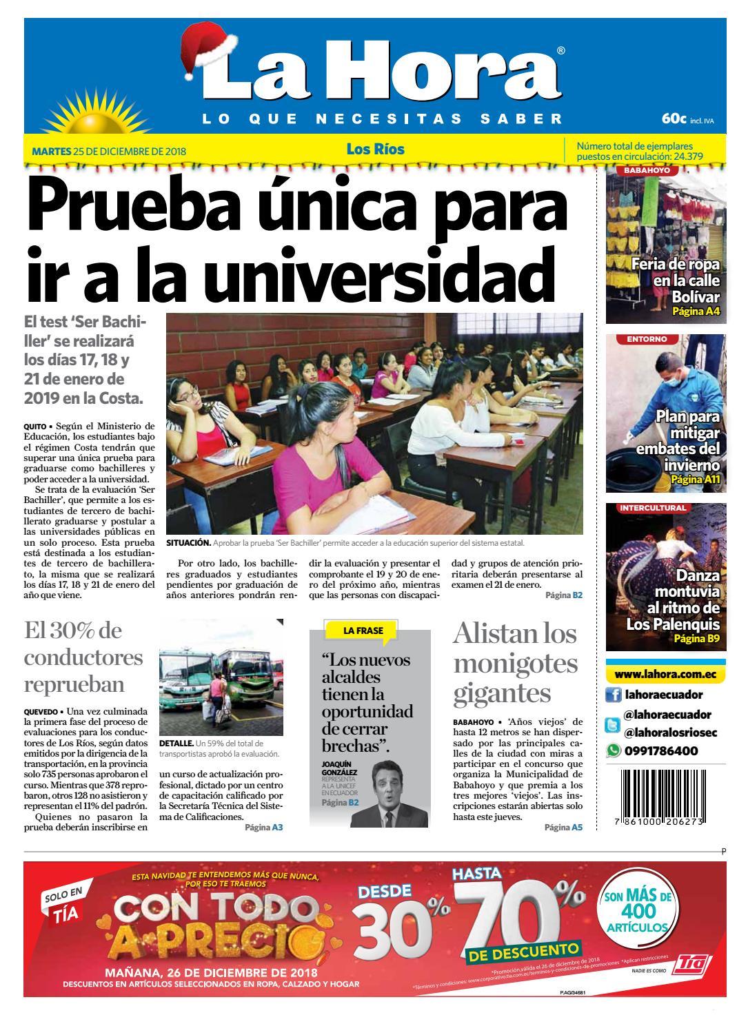 Los Ríos 25 de diciembre del 2018 by Diario La Hora Ecuador - issuu bdfbdd84730