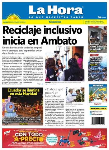 2cfbf26869b40 Ambato 24 de Diciembre del 2018 by Diario La Hora Ecuador - issuu