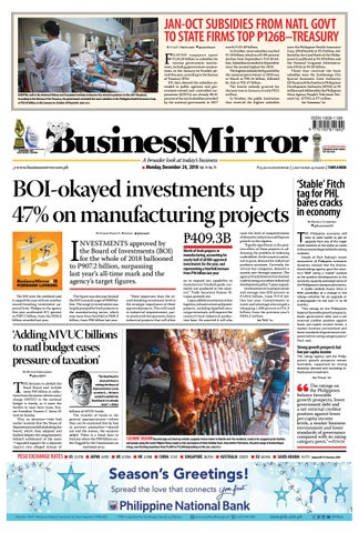 BusinessMIrror December 24, 2018 by BusinessMirror - issuu