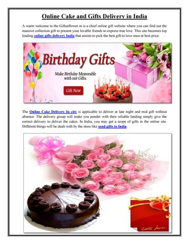 Online Cake And Gifts Delivery In India