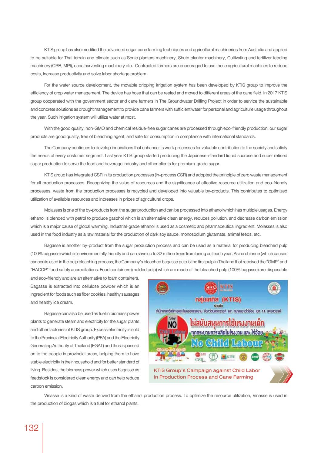 KTIS: Annual Report 2018 EN by Kaset Thai International Sugar