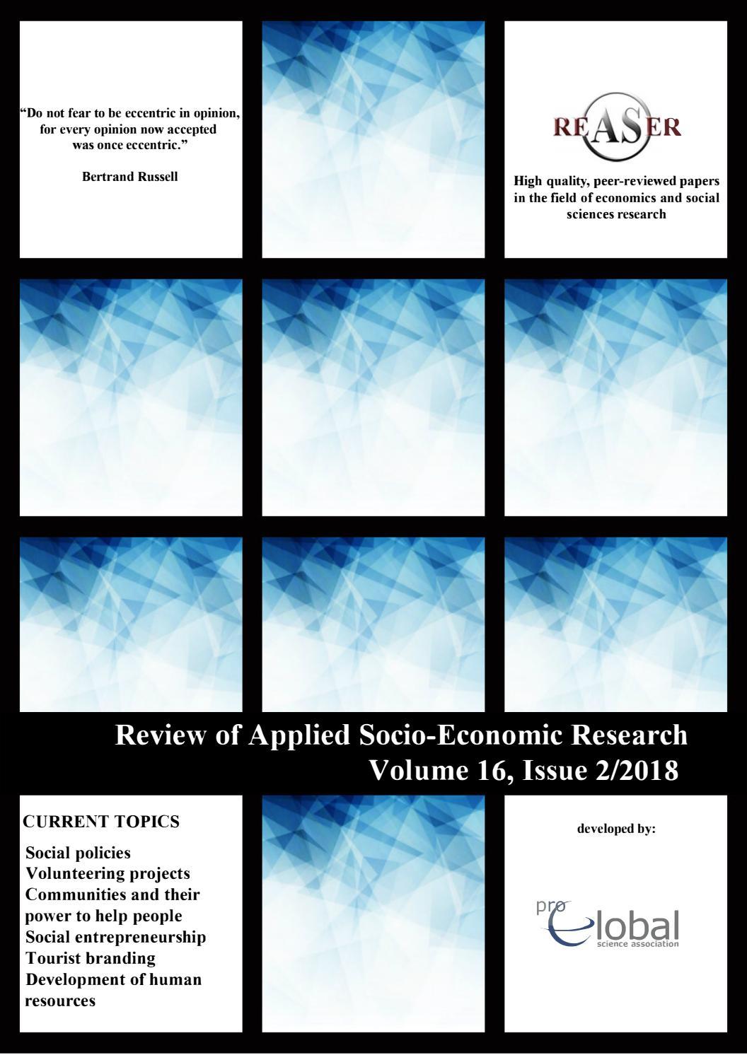 socio economic research papers