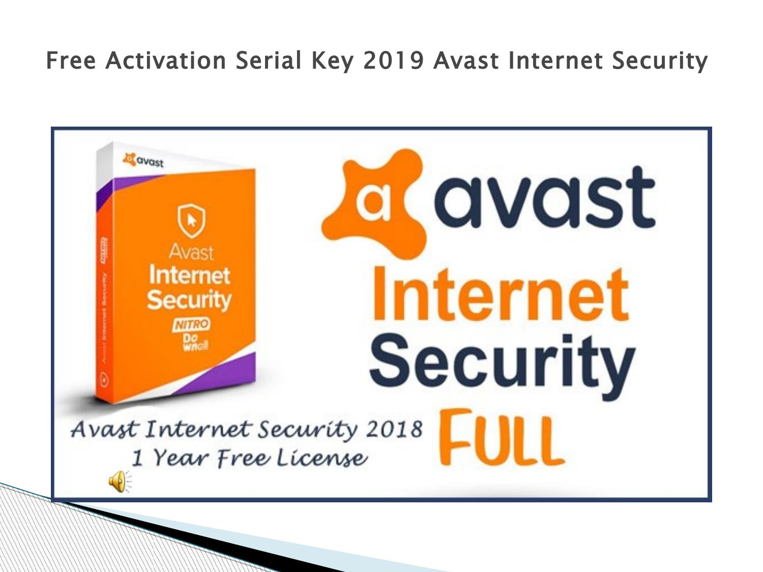 avast internet security 2018 license key download