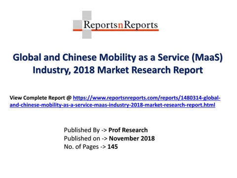 Mobility as a Service (MaaS) Market Trends and 2023 Forecasts for