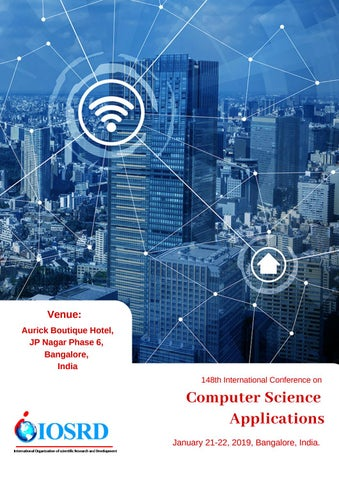 148th Computer Science Applications by IOSRD Journals and