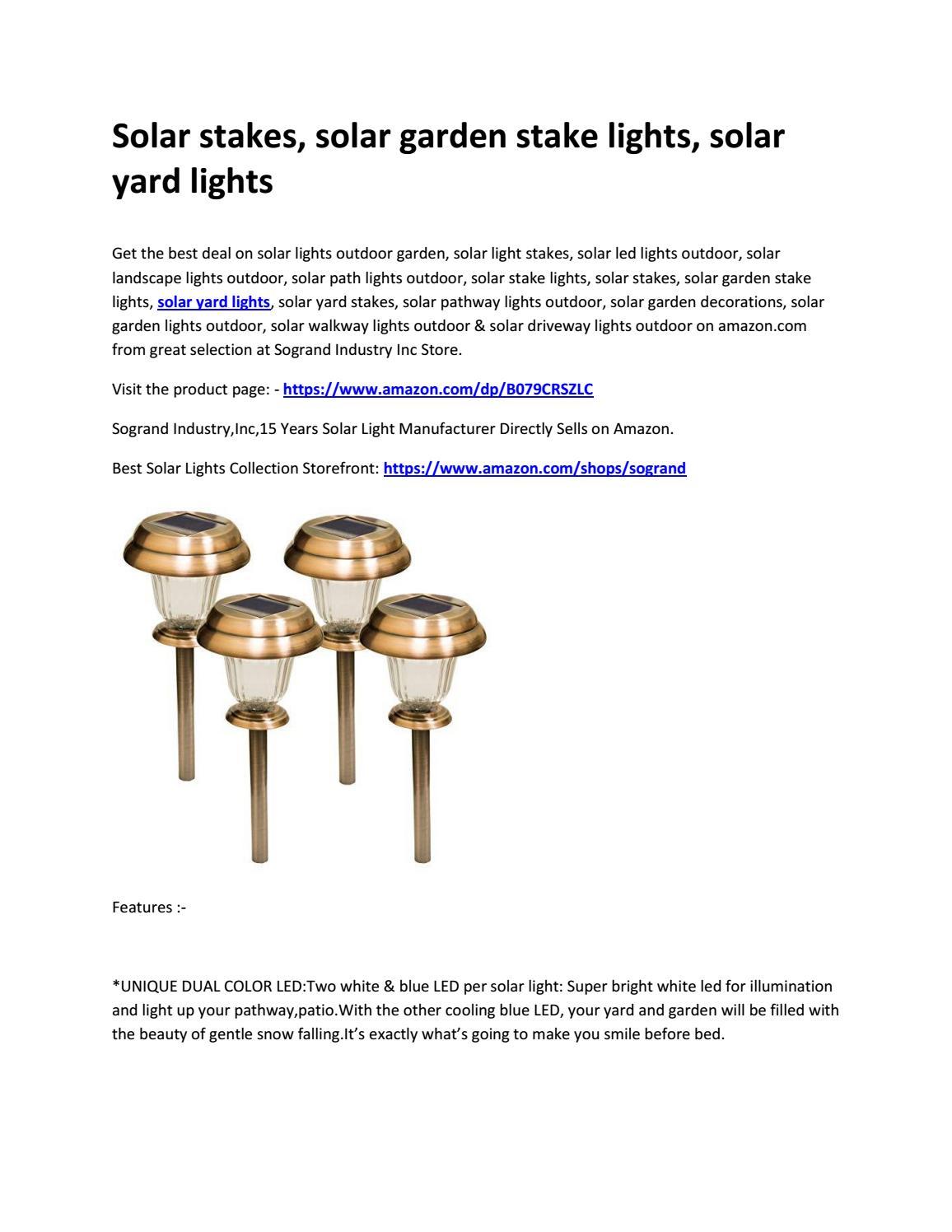 Solar Stakes Solar Garden Stake Lights Solar Yard Lights By Abhishek Soni Issuu