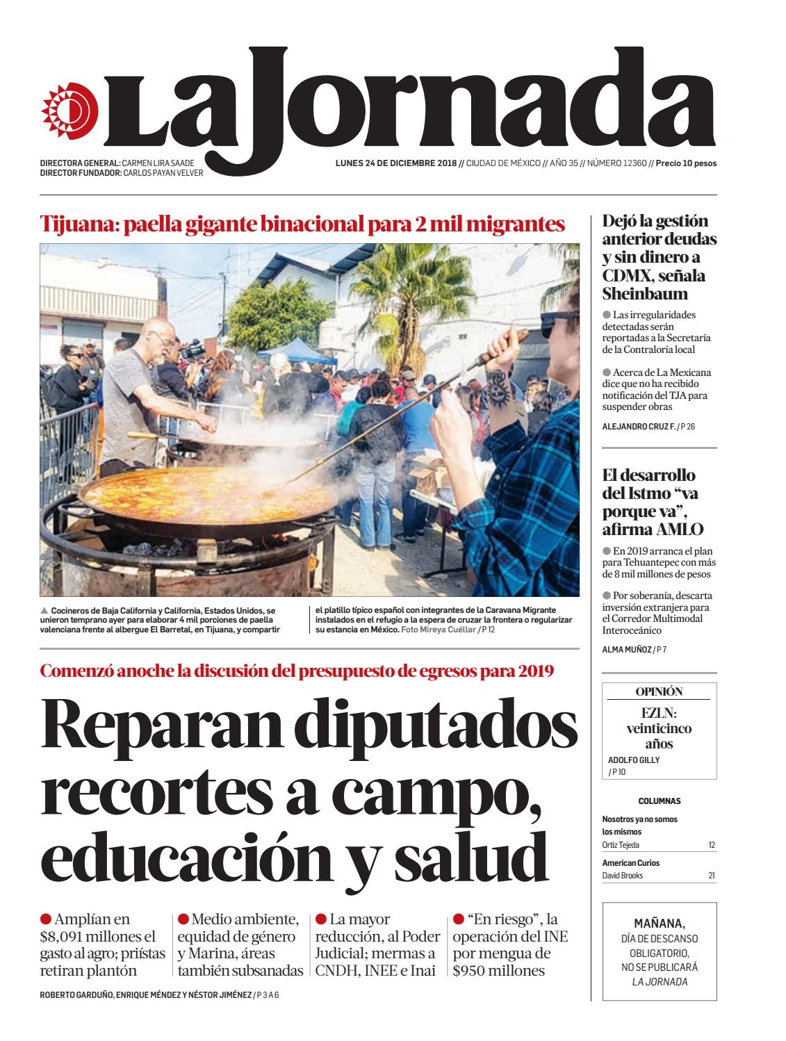 La Jornada 12 24 2018 By La Jornada Issuu