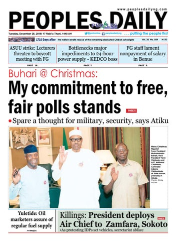 Tuesday, December 25, 2018 Edition by Peoples Media Limited - issuu