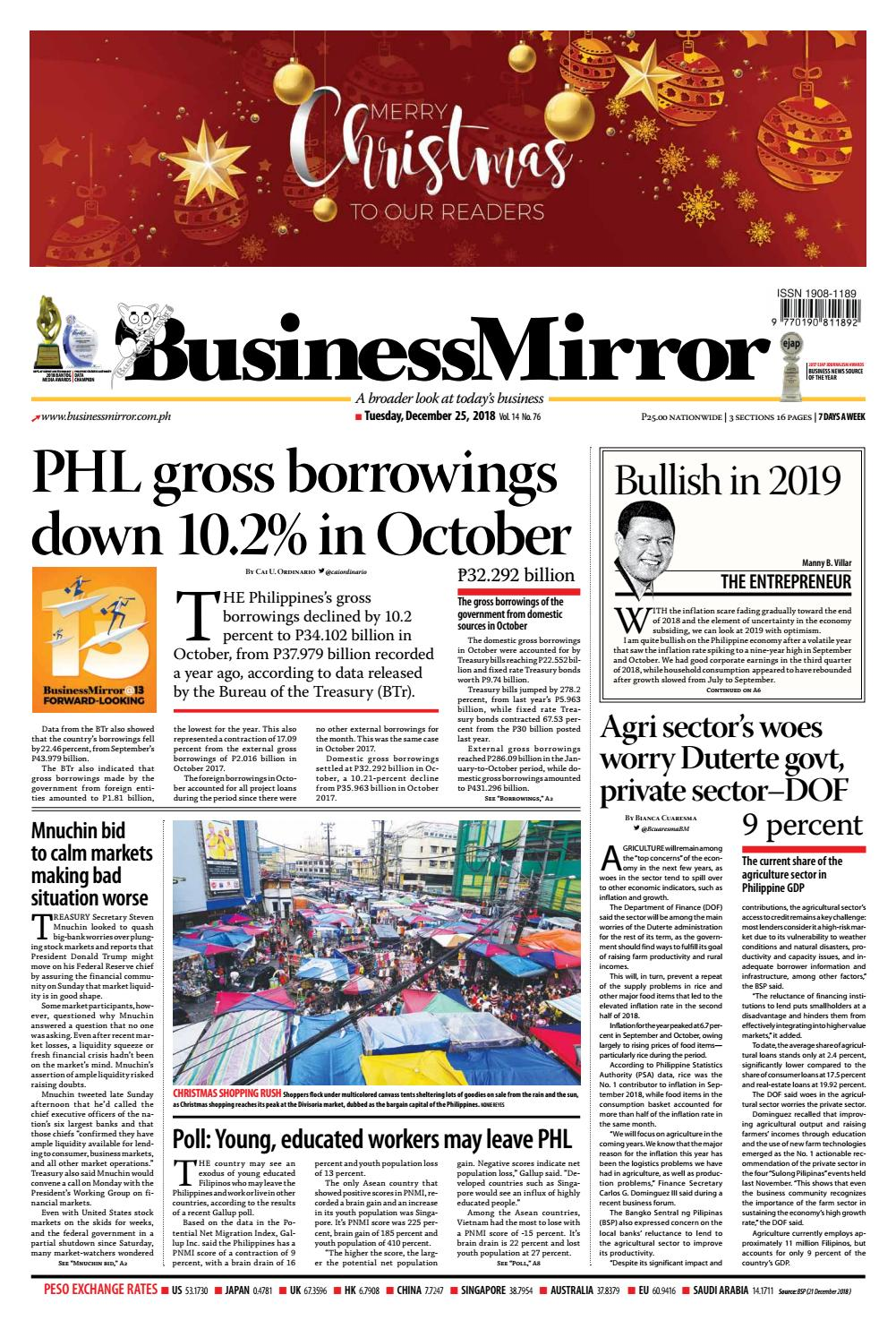 BusinessMirror December 25, 2018 by BusinessMirror - issuu