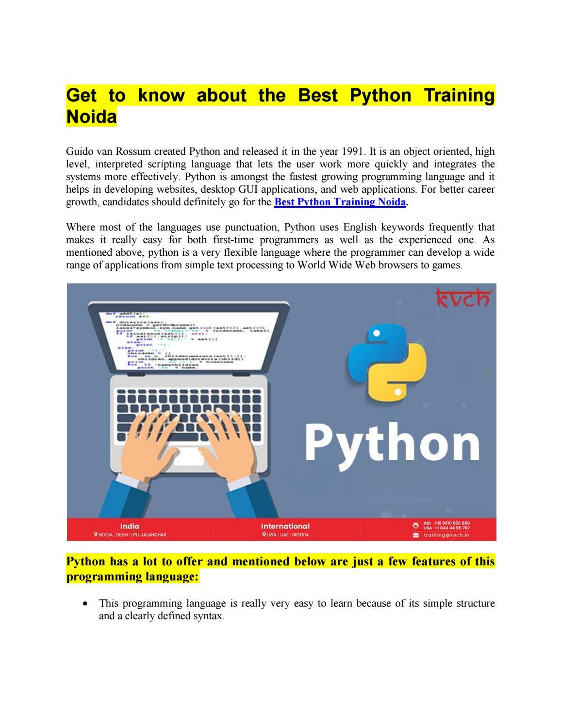 Best Python Training Noida   Python Course in Noida   KVCH by Sonia