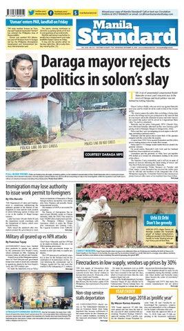 52cc80a0a4 Manila Standard - 2018 December 26 - Wednesday by Manila Standard ...