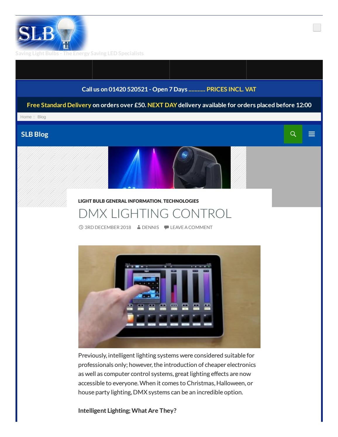 Dmx Lighting Control Saving Light