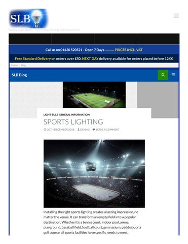 Sports Lighting Saving Light Bulbs By