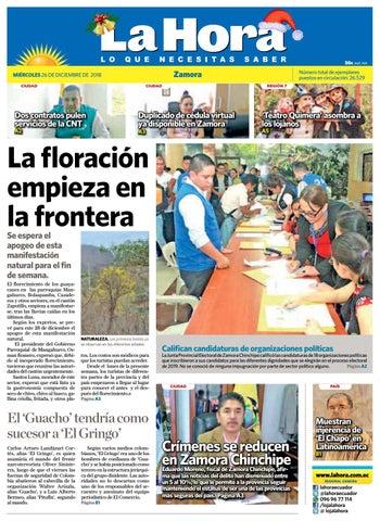 6b9371ab3 Diario La Hora Zamora 26 de Diciembre 2018 by Diario La Hora Ecuador ...