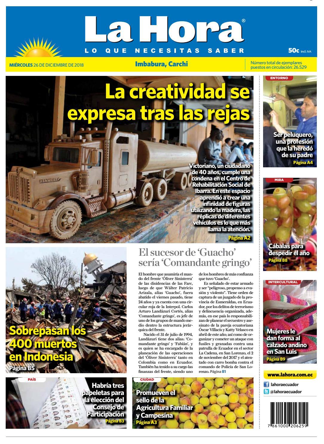 Imbabura Del 2018 Diario By Ecuador 26 De La Hora Carchi Diciembre rWoeBQdxC