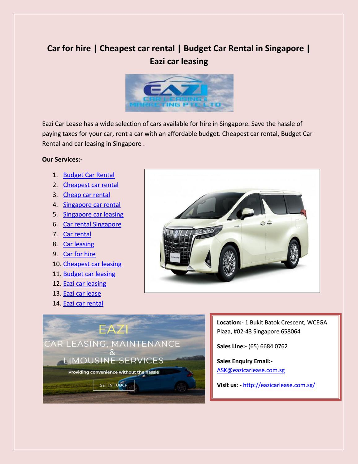 Cheapest Cars To Lease >> Car Rental By Sante Berry Issuu